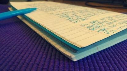 writing-on-yoga-mat